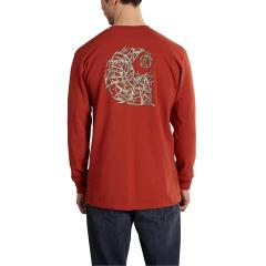 Men's Workwear Graphic Branded C Long Sleeve T Shirt