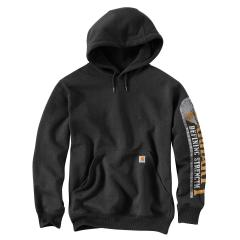 Men's Rain Defender Paxton Heavy Weight Hooded Sleeve Graphic Sweatshirt