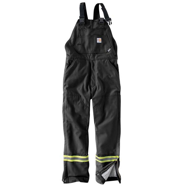 Carhartt Men's FR Striped Duck Bib Lined Overall