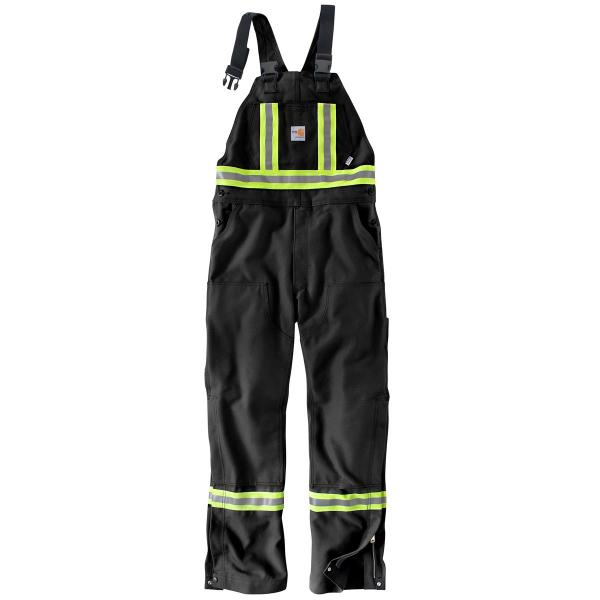 Carhartt Men's FR Striped Duck Bib Overall