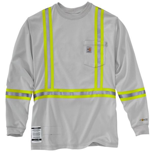 Carhartt men 39 s fr striped force cotton long sleeve t shirt for Carhartt men s long sleeve lightweight cotton shirt