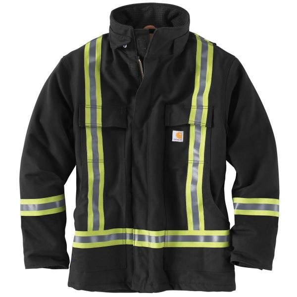 Carhartt Men's High-Visibility Striped Duck Traditional Coat
