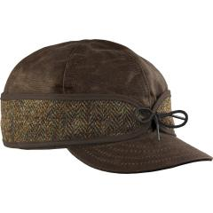 Men's Waxed Cotton Harris Tweed Cap