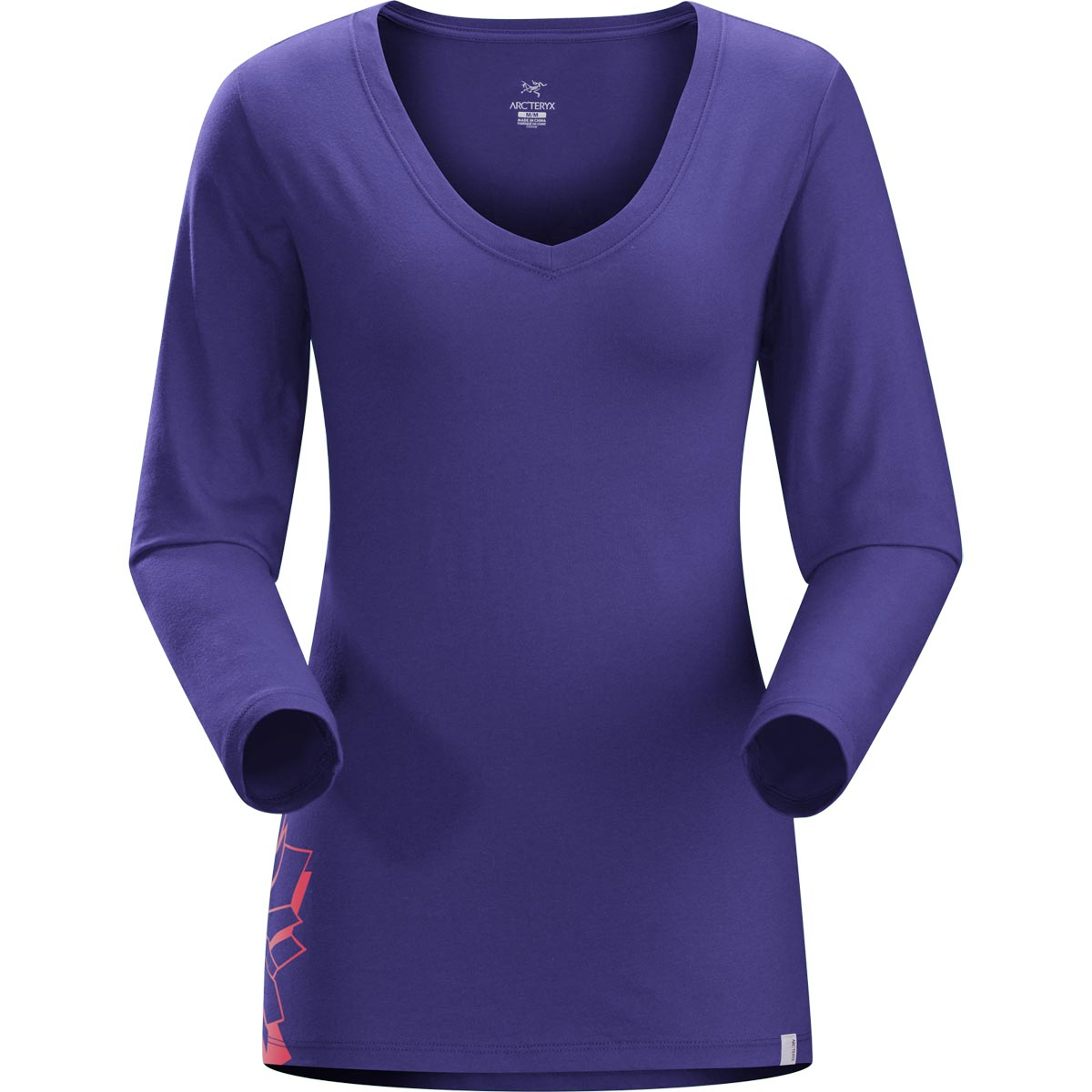Arcteryx Women's Maple Long Sleeve V Neck T Shirt