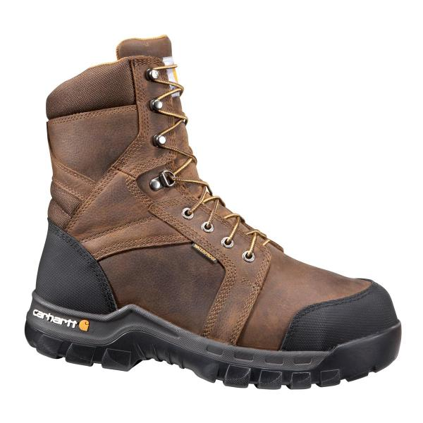 Carhartt Men's 8 Inch Waterproof Internal Met Guard Boot Composite Toe