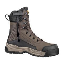 Men's 8 Inch Waterproof Insulated Work Boot with Medial Side Zip Composite Toe
