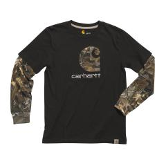 Boys' Camo C Layered Tee