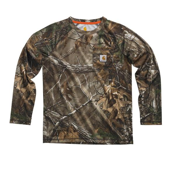 Carhartt Boys' Force Camo Raglan Tee