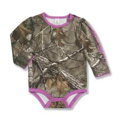 Infant Girls' Camo Long Sleeve Bodyshirt