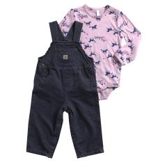 Infant Girls' Galloping Horses Overall Set