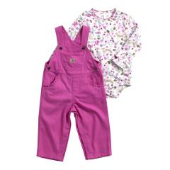 Infant Girls' Fox Friends Overall Set
