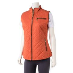 Women's Trimmed Quilted Vest
