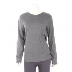 Women's Long Sleeve Jewel Neck Rib Tee