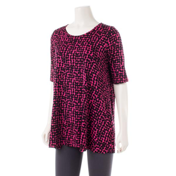 Comfy USA Women's Elbow Sleeve Tunic Print