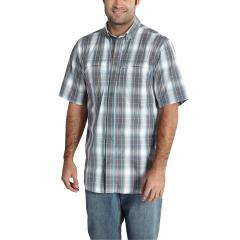 Men's Force Mandan Plaid Button Down Short Sleeve Shirt
