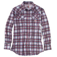 Men's FR Snap Front Plaid Shirt