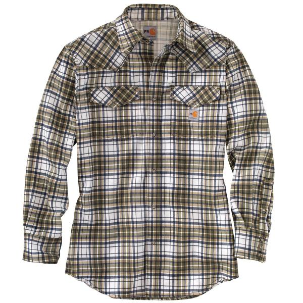 Carhartt Men's FR Snap Front Plaid Shirt