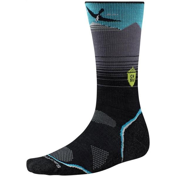 SmartWool Men's PhD Outdoor Light Crew Charley Harper National Park Bird or MTN