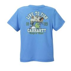 Infant and Toddler Boys' Live to Fish Force Tee