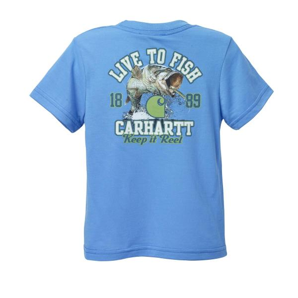 Carhartt Infant and Toddler Boys' Live to Fish Force Tee