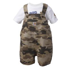 Infant Boys' Tan Camo Shortall Set