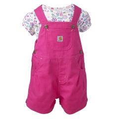 Infant Girls' Canvas Shortall Set