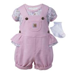 Infant Girls' 3 Piece Gift Shortall Set