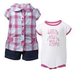 Infant Girls' 3 Piece Gift Short Set
