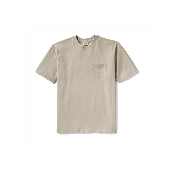 Filson Men's Short Sleeve Outfitter Solid Pocket Tee - Pebble Gray