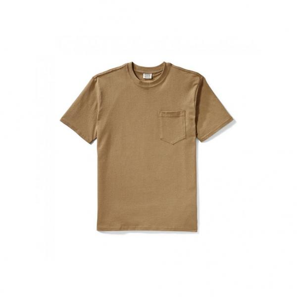 Filson Men's Short Sleeve Outfitter Solid Pocket Tee - Rugged Tan