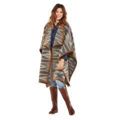 Pendleton Women's Suede-Bound Blanket Wrap