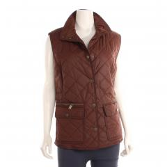 Women's Quilted Snap Vest