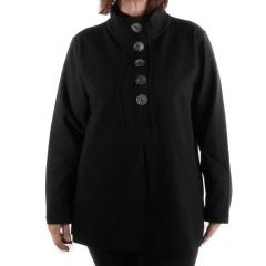 Lulu-B Women's 5 Button High Neck Jacket