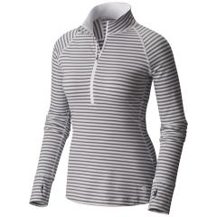 Mountain Hardwear Women's Butterlicious Stripe Long Sleeve Half Zip