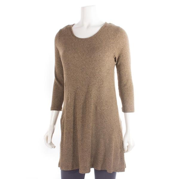 Comfy USA Women's Diamond Side Tunic Sweater Knit