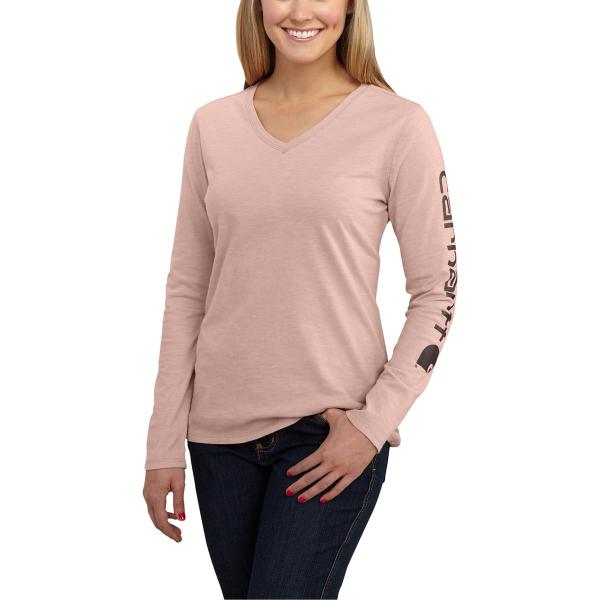 Carhartt Women's Sleeve Logo Long Sleeve T-Shirt