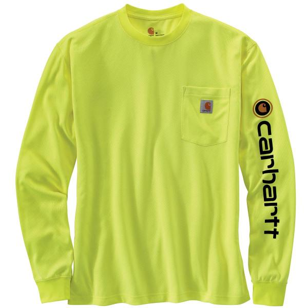 Carhartt Men's HV Force Color Enhanced Graphic Long Sleeve T-Shirt