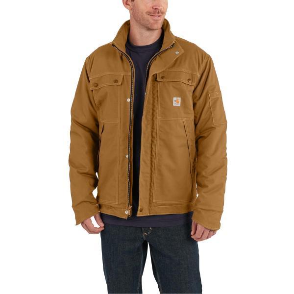 b2c8ee64ec Carhartt Men's Flame Resistant Full Swing Quick Duck Coat | Free ...