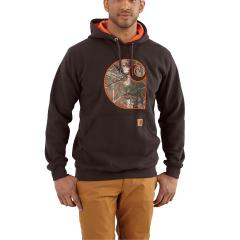 Carhartt Men's Rain Defender Avondale Midweight Hooded Camo Applique C Sweatshirt