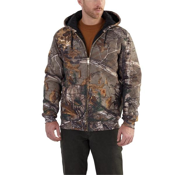 Carhartt Men's Rain Defender Avondale Midweight Camo 3-Season Sweatshirt - Discontinued Pricing