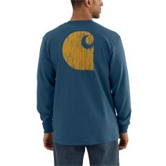 Carhartt Men's Workwear Graphic Branded C Long-Sleeve Pocket T Shirt