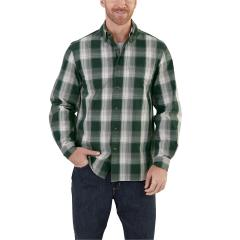 Men's Essential Plaid Button-Down Long-Sleeve Shirt