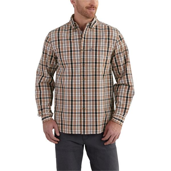 Carhartt Men's Essential Plaid Button-Down Long-Sleeve Shirt