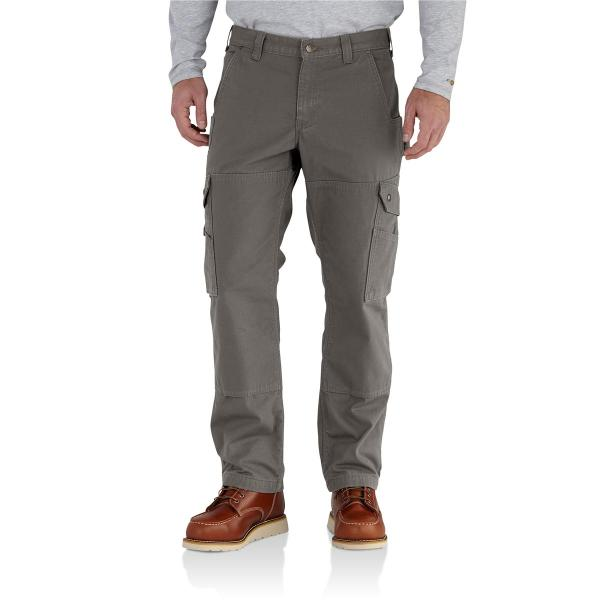 Carhartt Men's Ripstop Cargo Work Pant - Flannel Lined