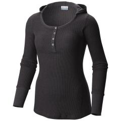 Women's Weekday Waffle Henley Long Sleeve Extended Sizes