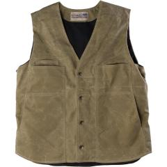 Men's Waxed Button Vest