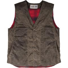 Men's Lined Waxed Button Vest