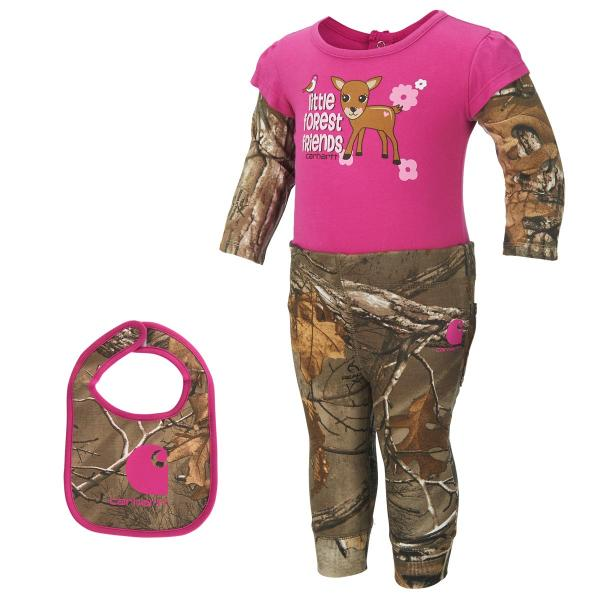 Carhartt Infant Girls' Camo Three Piece Gift Set