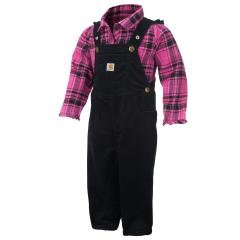 Infant Girls' Pretty Plaid Overall Set