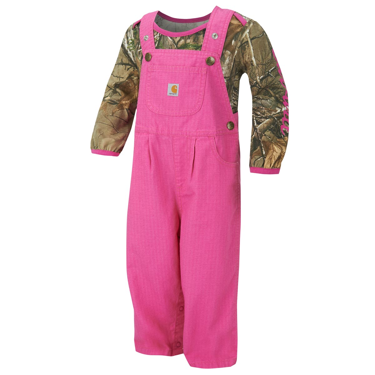 Carhartt Infant Girls' Camo Overall Set